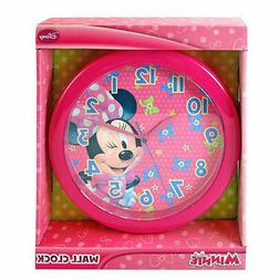 """MINNIE BOWTIQUE"" DISNEY 10"" WALL CLOCK: Quartz Accuracy, Ea"
