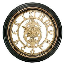 Wall Clock Retro Watch Quartz Gearwork Art Antique Gears Vin