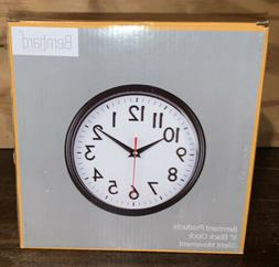 "Bernhard Products - Black Wall Clock 8"" Silent Non-Ticking Q"