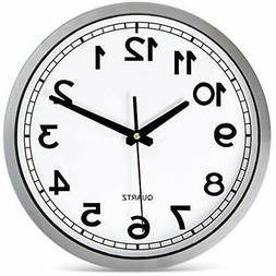 """Bernhard Products Wall Clock Silent Non-Ticking Large 12"""" Si"""