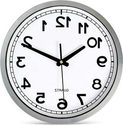 "Bernhard Products Wall Clock Silent Non-Ticking Large 12"" Si"