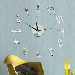 Wall Clock Watch Large Modern Simple DIY Sticker Decal 3D Ro