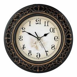 Wall Clocks Efinito 10 Inch Antique Look Designer Round Plas