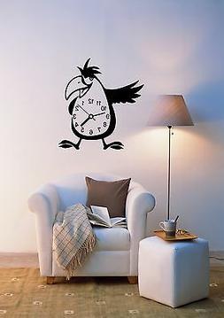 Wall Stickers Vinyl Decal Bird Clocks Decor For Living Room