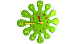 DECO&LIGHT Water Drop Wall Clock Green