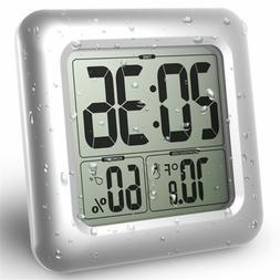 Waterproof Kitchen Bathroom Clock Digital Temperature Suctio