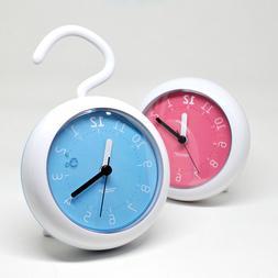 Waterproof Non Ticking Silent clock for bathroom Kitchen Sho