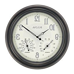 Bulova Weather Master Outdoor Wall Clock