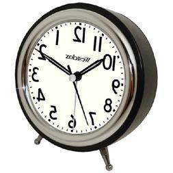 Westclox 75032 5 Classic Alarm Clock Retro Chrome Bezel - Bl