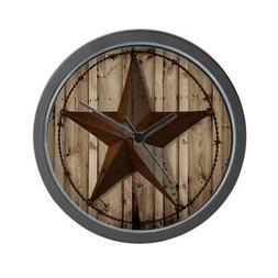"CafePress Western Texas Star Unique Decorative 10"" Wall Cloc"
