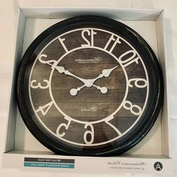 Westminster 16 inch Brown Wall Clock Quartz Accuracy & Glass