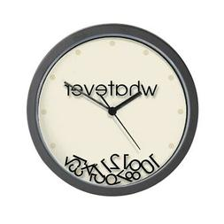 "CafePress - Whatever - Unique Decorative 10"" Wall Clock"