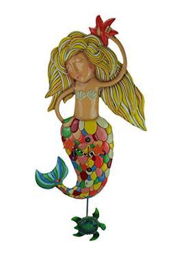 "Allen Designs ""Sirena"" Extra-Large Whimsical Mermaid Pendulu"