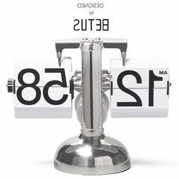 Betus White Flip Desk Shelf Clock  Home&Office Décor 8x6.5x