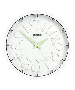 Casio White Modern Stylish Wall Clock Analog IQ-64