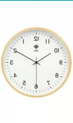 Hippih White/wood Wall Clock