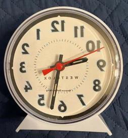 Westclox Windup Alarm Clock White