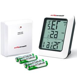 Wireless Indoor Outdoor Thermometer Humidity Monitor With Te