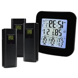 Wireless Weather Station Thermometer with 3 Indoor Outdoor S