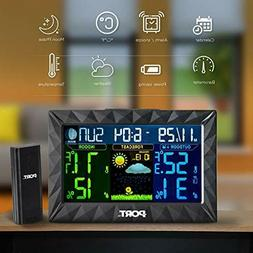 PORT Wireless Weather Station Color Monitor Forecast with Te
