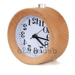 Wood Alarm Clock Battery Operated Silent Desk Clock Snooze O