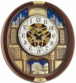 Seiko ' Melodies in Motion-Wall' Wood Clock, Color:Brown