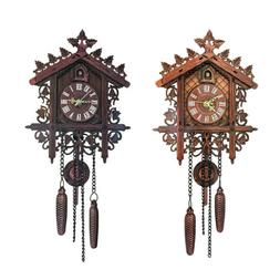Wooden Cockoo Wall Clock Quartz Analog Clock for Home Office