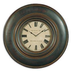 Uttermost 'Adonis' Wooden Wall Clock - Black