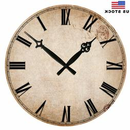 Wooden Wall Clocks Room Home Decor Kitchen Living Large Retr