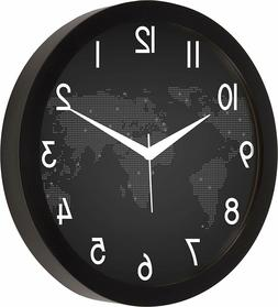 World map Round Wall Clocks Ideal for living room, bedroom,