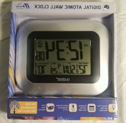 LA CROSSE TECHNOLOGY WS-8115U-S Atomic Digital Wall Clock wi
