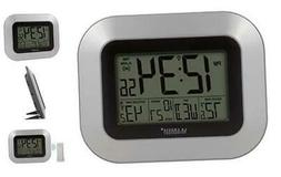 WS-8115U-S-INT Atomic Digital Wall Clock with Indoor and Out