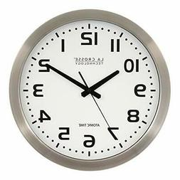 La Crosse Technology WT3161WH Stainless Steel Atomic Clock -