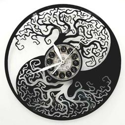 YIN YANG VINYL RECORD CLOCK CLOCKS  HOME DECOR YOGA DECOR KA