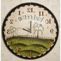 Your Hearts Delight Wall Clock - Grazing Sheep